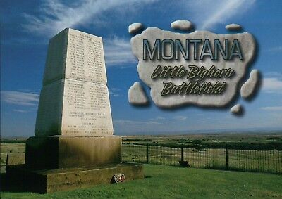 Last Stand Hill Monument Montana Battle of Little Bighorn George Custer Postcard