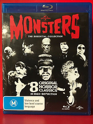 Universal Monsters: The Essential Collection Horror Classics 8 x blu-ray OOP AUS