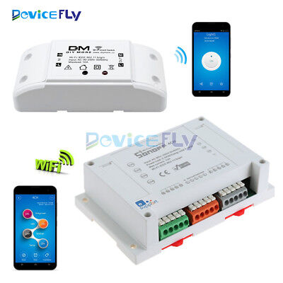 Sonoff  1/4CH 1/4 Channel Wireless WiFi Smart Home Switch Module Remote Control