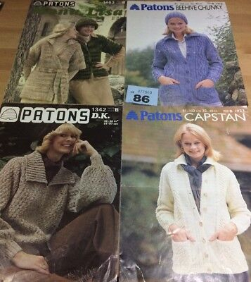 "Patons 3258 Vintage Ladies Cardigan Knitting Pattern 32-40/"" Chunky yarn Reformat"