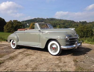 1948 Plymouth Special Deluxe Convertible. Over £60,000 Spent On Restoration. RHD
