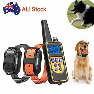 Pet Dog Training Collar Rechargeable Remote Control No Barking Trainer AU