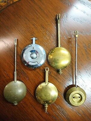 Small Collection Of Antique Clock Pendulums Garrard