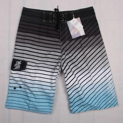AU QUICK DRY Mens Fashion Board Surf Shorts Boardshorts Swim Beach Pants Grey