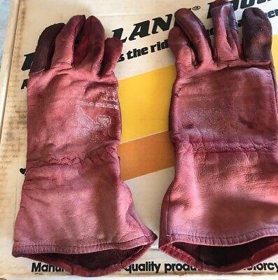 Fox Racing Track Paws Road Racing Gloves Vintage large Dainese