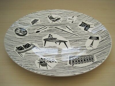 1950s Designed Vintage Retro Ridgway Potteries Homemaker Dinner Plate