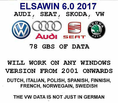 ELSAWIN6.0 2017 Workshop Service Repair Manual -- CHOOSE FROM 8 LANGUAGES