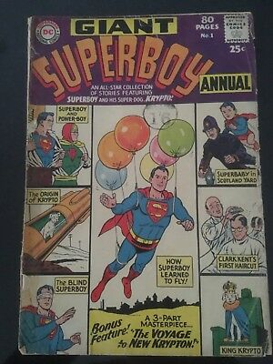 Superboy Giant Size number 1 1964 Silver Age