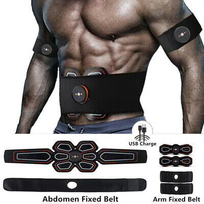 EMS Stimulator Abdominal Muscle Training Gear Toner-Core Toning ABS Workout Belt