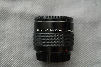 PENTAX PK Vivitar 70-150mm MC Matched Multiplier 2X  Converter