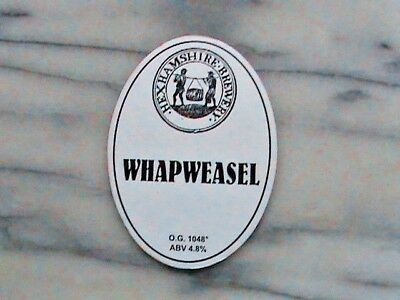 Hexhamshire Whapweasel real ale beer pump clip sign