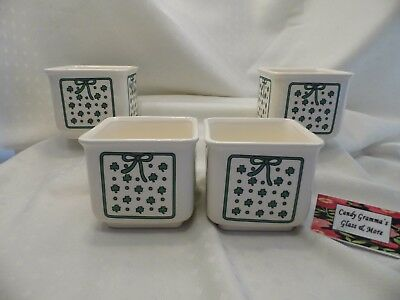 R. O. C. Square Shamrock Bowl or Planter Set of Four