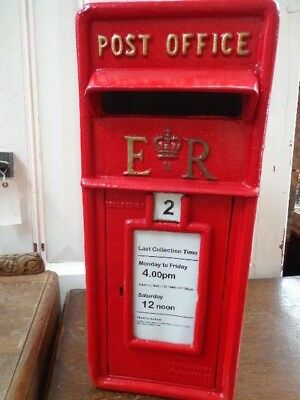 Replica Royal Mail ER / GR Red Post box and Stand