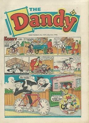 Dandy Comics. May 1964. Very Good Condition. May 2nd, 9th, 16th, 23rd & 30th 196