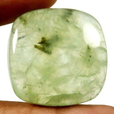 74 cts Natural Awesome Designer Prehnite Gemstone Cushion Shape Loose Cabochon