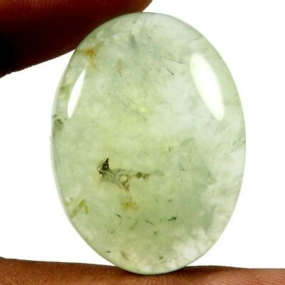 58.70 cts Natural Awesome Designer Prehnite Gemstone Oval Shape Loose Cabochon