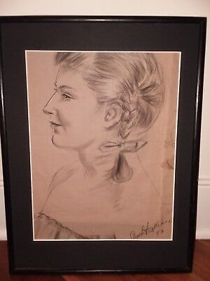 Charleston Wilson 1953 portrait painting drawing NYC African American artist art