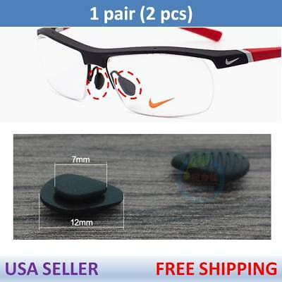 US Seller for Nike Eye Glasses Premium Silicone Nose Pads Nosepads x1 Pair Black