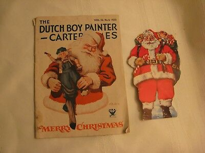 Vintage 133 Dutch Boy Painter-Carter Times Xmas & Santa Orn.central Trust