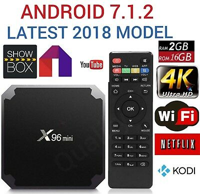 Android 7.1 Smart Tv Box 4K Ultra HD Media Player 2GB 16GB WIFI Kodi X96