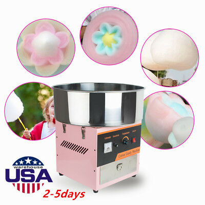 Electric Cotton Candy Machine Floss Maker Commercial Carnival Party Pink Best