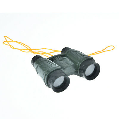 1pc plastic kid children magnification toy binocular telescope + neck tie strrnZ