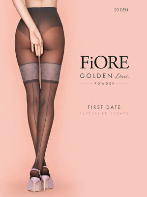 ba9961306d361f FIORE First Date Luxury Super Fine 20 Denier Decorative Patterned Tights