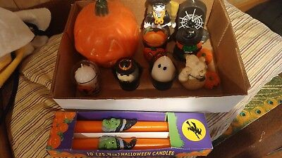 Great lot of 9 Vintage HALLOWEEN Candles! Never used! Great Figurals!
