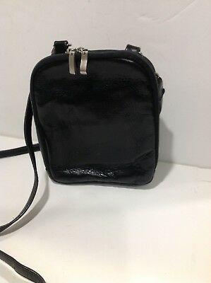 Crossbody Black Leather Purse Small 6.5x8x3 Inch 3 Sections Adjustable Strap 5c552b0a175c8