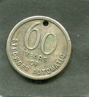 Vintage 60 Years Of Strowger Automatic Telephone Exchange Co Adv Medal 32Mm