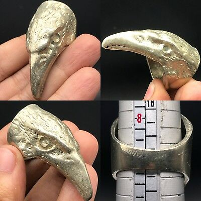 Lovely Antique Silver Medieval Unique Ring beautiful Eagle Bird