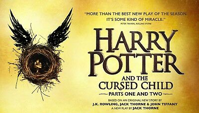 Harry Potter Broadway - Sunday, 11/25/18 - Orchestra - 3 tickets - Face Value!