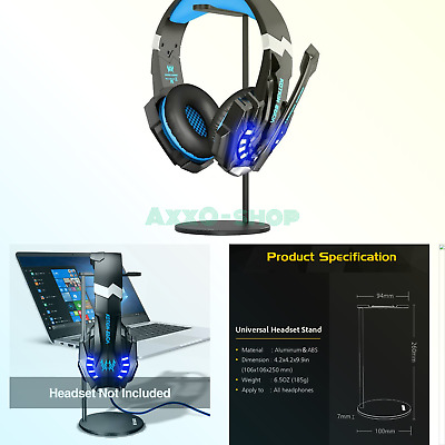 f699a2afad9 BENGOO Gaming Headset Headphone Stand for PC PS4 Xbox One Headset, Aluminum  H..