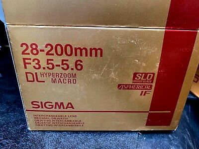 Sigma AF 28-200mm DL Hyperzoom Macro F3.5-5.6 Zoom Lens for Minolta SLD Glass