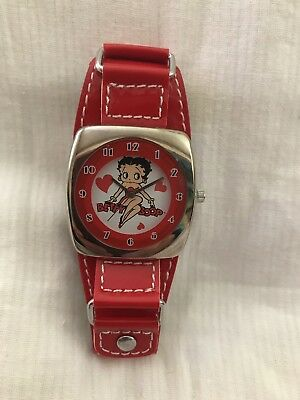 Betty Boop Wrist Watch Red Patent  Leather