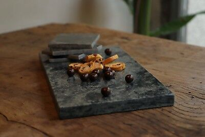 Marble Board for Cheese, Dark Green 35*25*2. Authentic Spanish Marble