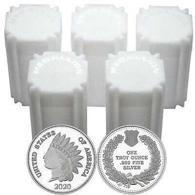 2019 Indian Head Cent 1oz .999 Fine Silver Round by SilverTowne LOT OF 100