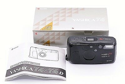 YASHICA T4 POINT-AND-SHOOT 35mm FILM CAMERA WITH TESSAR T* 35mm F/3.5 LENS