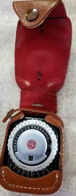 Vintage General Electric Exposure Meter Type PR-1 For Film or Plates with case