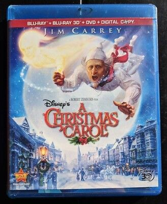 Christmas Carol Jim Carrey.Sealed 3d Disney A Christmas Carol Blu Ray Dvd Digital Blueray Movie Jim Carrey