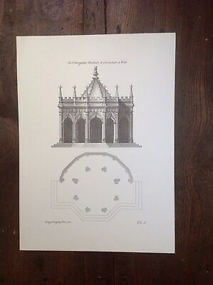 Architectural Print From a Drawing dated 1742