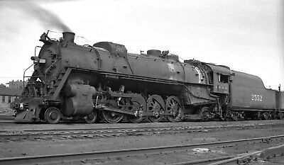 Illinois Central Locomotive #2552 at East St Louis - Original B&W Negative