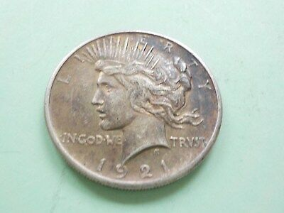 1921 -  Peace Silver  Dollar - United States Antique Coin