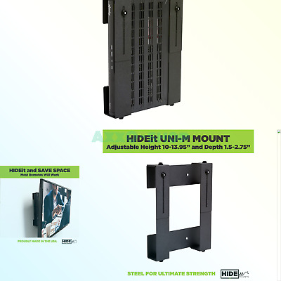 HIDEit Uni-LXW Mount — Patented Adjustable Large Extra-Wide Computer Mount