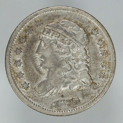 1835 Capped Bust  Half Dime H10C Xf Extra Fine (7218)