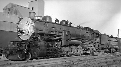 Southern Pacific Locomotive #3708 at Turlock, CA - Original B&W Negative