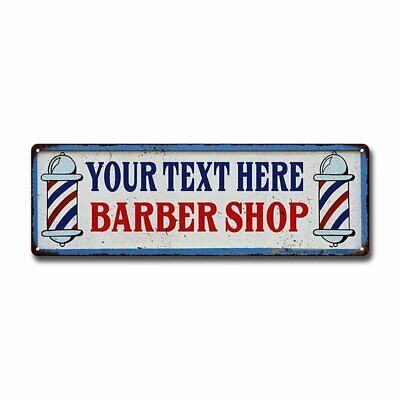 JOHNNY/'S Barber Shop Hair Salon Personalized Metal Sign Retro 106180031262