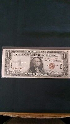 1934 - 1$ Hawaii Silver Certificate Series A; VF Condition