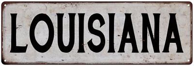 LINCOLN Vintage Look Rustic Metal Sign City State 106180041123