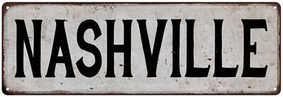 NASHVILLE Personalized Chic Metal Sign Home Decor Cities 4x18 104180007235